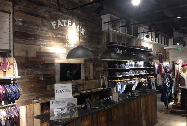 FatFace Shop Fit-Out for retail store on High Street