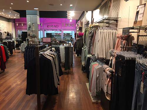 The High Street Brand Oasis shop fit complete