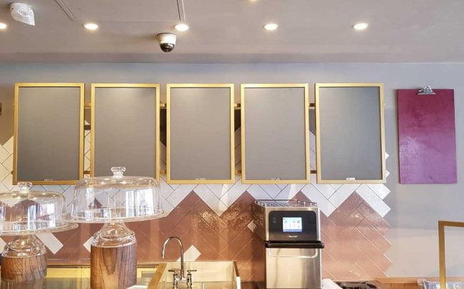 Costa Coffee Interior Fitters Back Wall